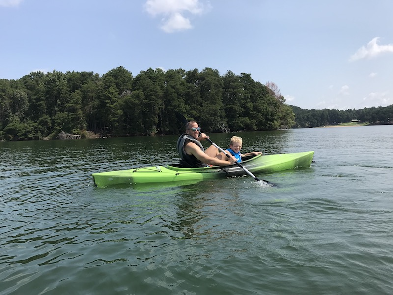 kayaking on Lake Lanier, Gainesville, Georgia