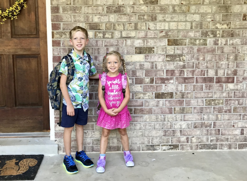 first day of school, third grade and kindergarten