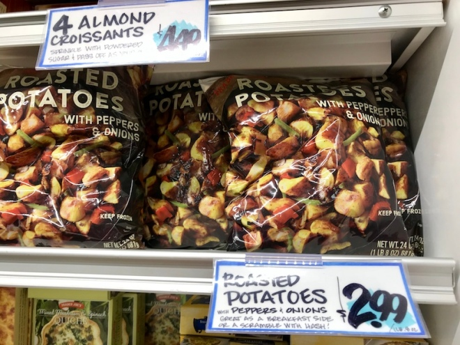 Trader Joe's Roasted Potatoes with Peppers and Onions