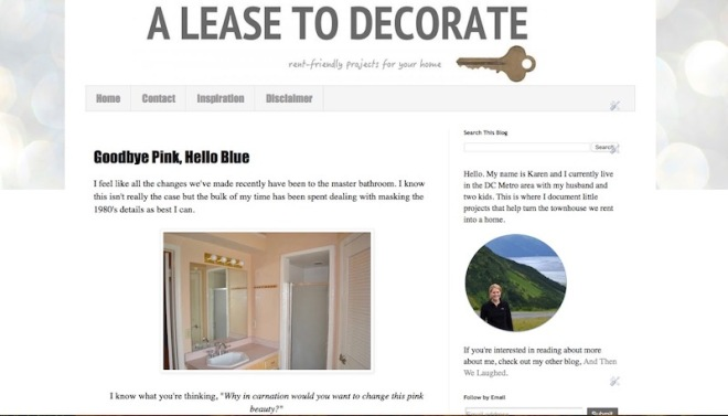 a lease to decorate