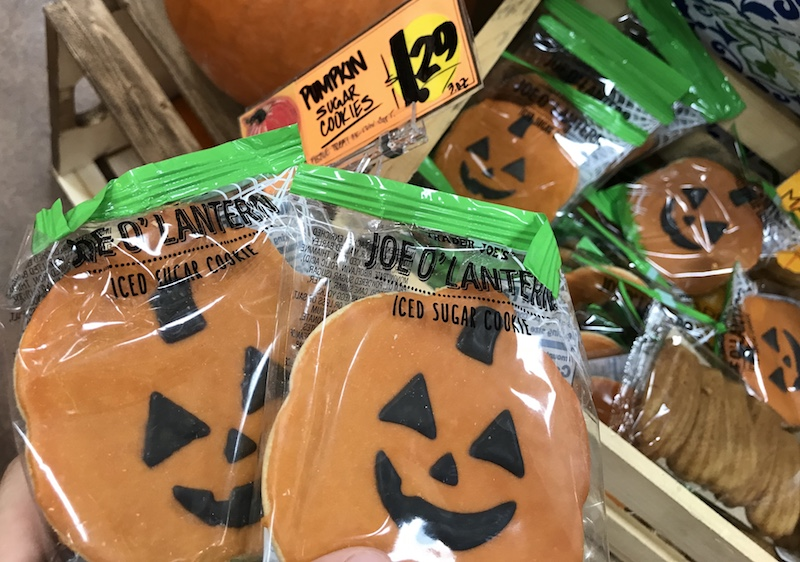 pumpkin iced sugar cookie at Trader Joe's