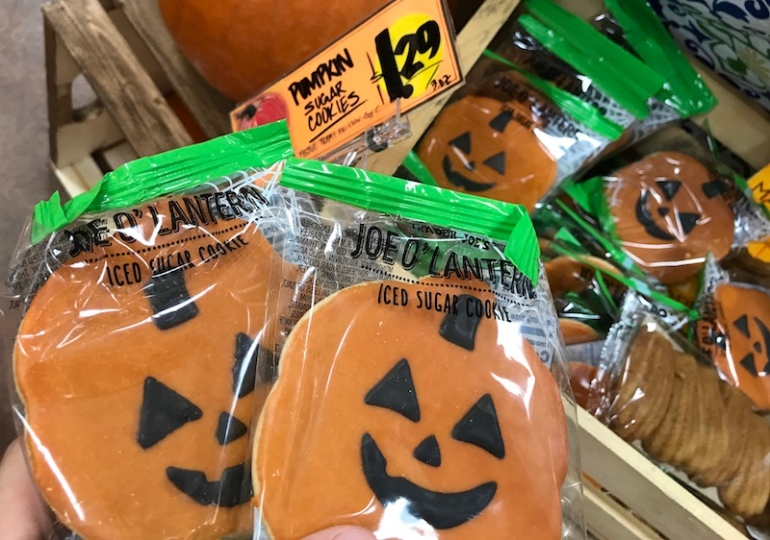 pumpkin iced sugar cookie at Trader Joe's