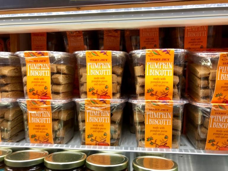 pumpkin biscotti Trader Joe's