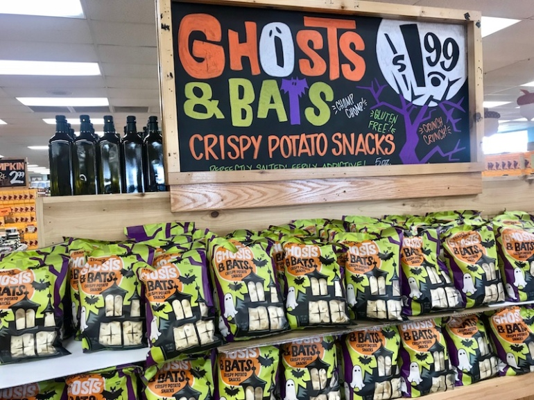 Ghosts and Bats crispy potato snacks Trader Joe's