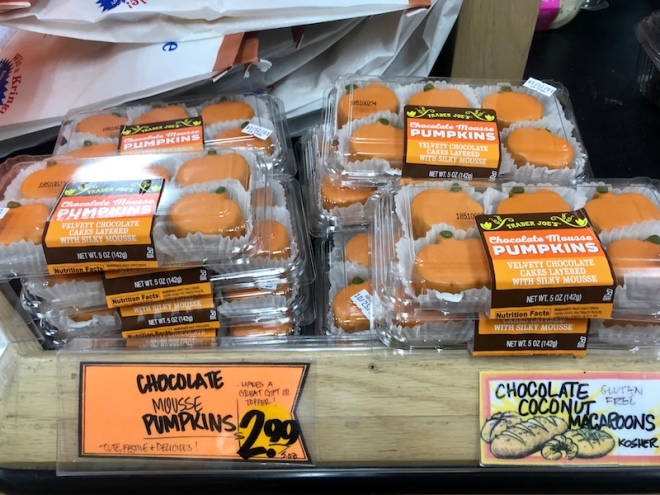 chocolate mousse pumpkins trader Joes