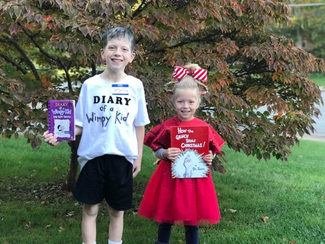 Diary of a Wimpy Kid and Cindy Lou Who Costumes