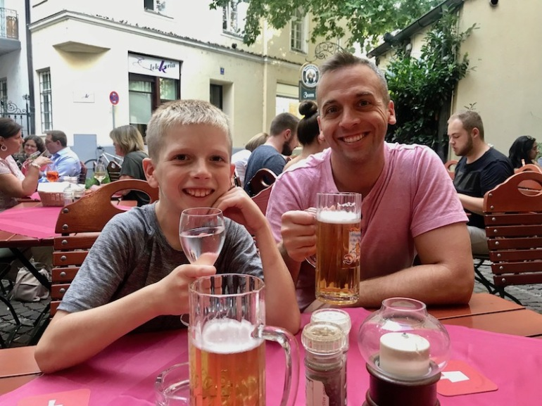 father son in Munich