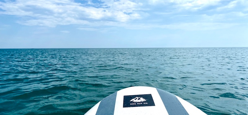 Stand Up Paddle Boarding on Lake Michigan