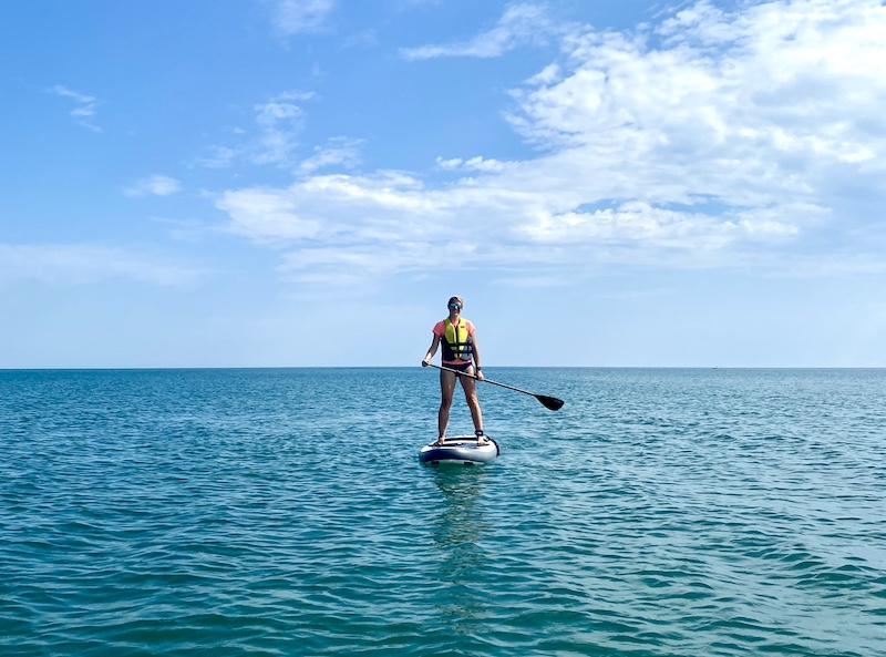 stand up paddle boarding lake Michigan Fort Sheridan