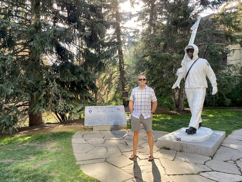 10th Mountain Division statue in Vail